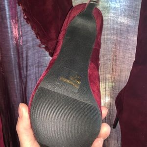 Wet Seal Shoes - 🍒🍷Thigh high Cherry Wine colored velvet Size 7.5